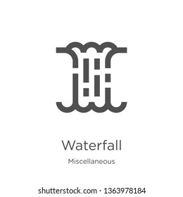waterfall icon. Element of miscellaneous collection for mobile concept and web apps icon. Outline, thin line waterfall icon for website design and mobile, app development