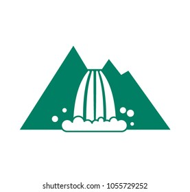 Waterfall icon. Vector