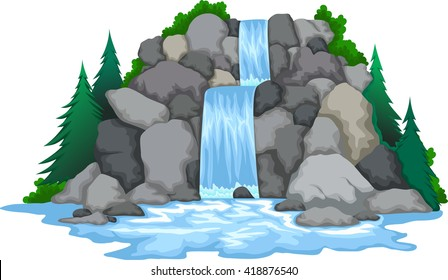 waterfall images stock photos vectors shutterstock rh shutterstock com waterfall clipart black and white waterfall clipart images