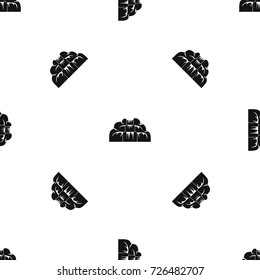 Waterfall pattern repeat seamless in black color for any design. Vector geometric illustration