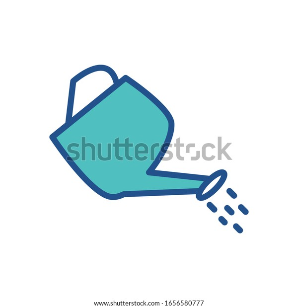 Watering Can Icon Design Flat Style Stock Vector Royalty Free 1656580777