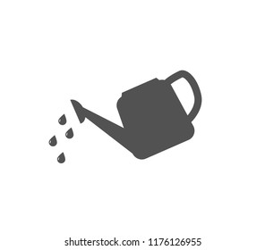 Watering can icon. Vector plant watering.