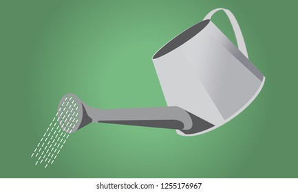 Watering Can isolated - simple element - vector illustration
