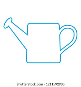 Watering can.Linear design, vector graphics