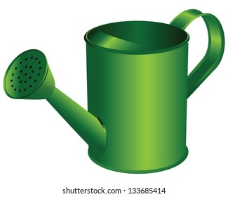 Watering can.Tool for manual operation room and household plants. Vector illustration.