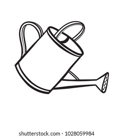 Watering pot sketch icon for web, mobile and infographics. Hand drawn Watering pot vector icon isolated on white background.