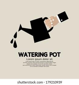 Watering pot Vector Illustration