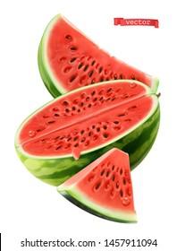 Watermelon, 3d realistic vector icon