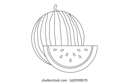 Vegetables Fruits Coloring Pages High Res Stock Images Shutterstock
