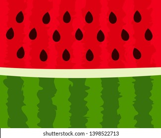 Watermelon cut background. Vector illustration.
