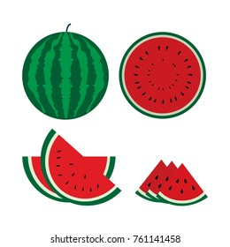 Watermelon Fruit Vector