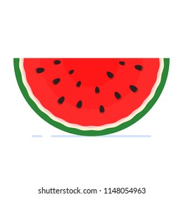 Watermelon icon in a flat style