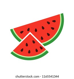 watermelon icon isolated on white background. Vector illustration. Eps 10.