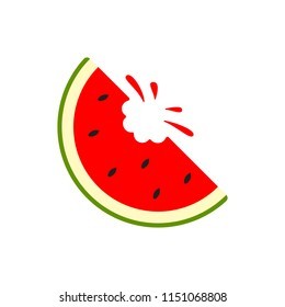 Watermelon icon. Vector water melon. Slice fruit isolated on white background