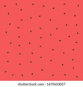 Watermelon pattern, summer banner, watermelon set, pink background, vector
