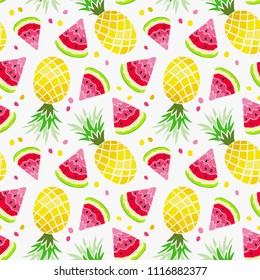 watermelon pineapple seamless pattern summer 260nw 1116882377