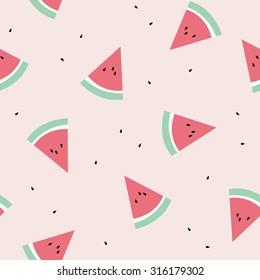 Watermelon Seamless Pattern Background