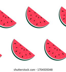 Watermelon Seamless Pattern Background. Vector Illustration EPS10