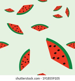 Watermelon Seamless Patterns of Watermelon .colorful