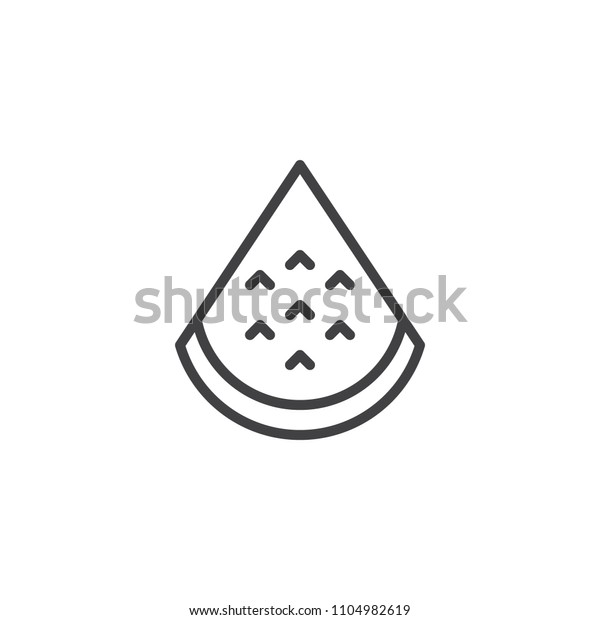Watermelon Slice Outline Icon Linear Style Stock Vector Royalty Free 1104982619