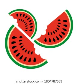 Watermelon Slices vector illustration on a white background
