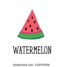 Watermelon Style Vector Illustration food fruit summer