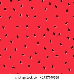 Watermelon vector hand-drawn texture with seeds. Colorful juicy summer tropical vector pattern