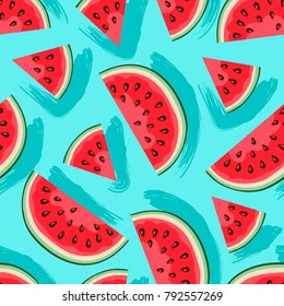 Watermelon vector pattern