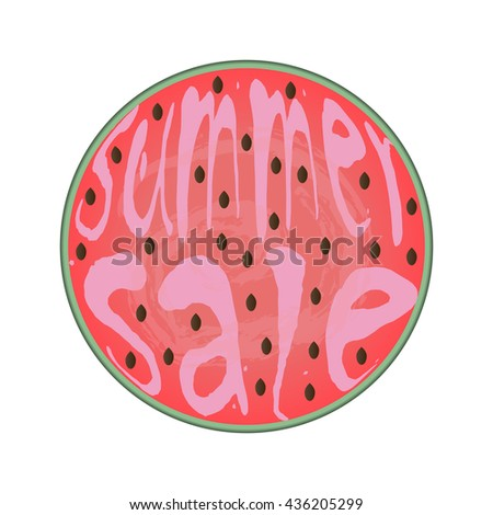 watermelon word summer sale template stock vector royalty free