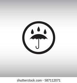 Waterproof flat vector icon. Isolated waterproof vector sign. Umbrella vector illustration.