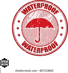 Waterproof grunge stamp.Vector