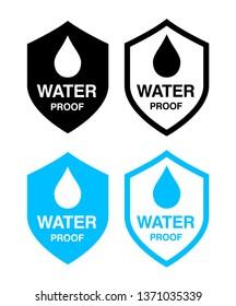 waterproof icon set (Shield)
