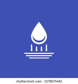 waterproof icon, vector