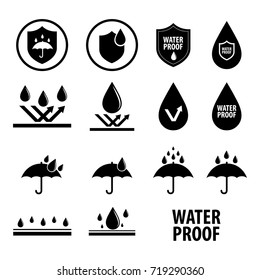 Waterproof icon vector illustration
