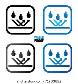Waterproof icon vector illustration