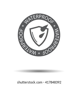 Waterproof icon, water protection icon
