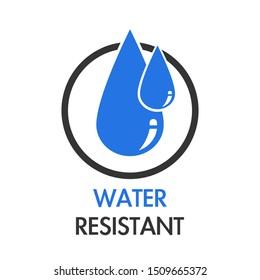 Waterproof logo flat illustration isolated on white background.