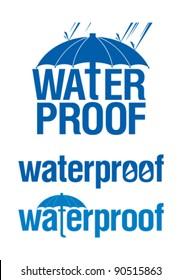 Waterproof logo set.