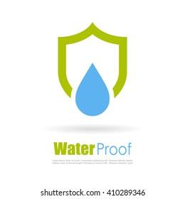 Waterproof logo vector illustration isolated on white background