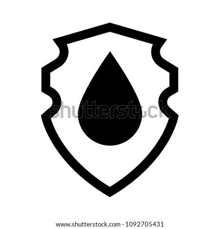 Waterproof Vector Icon Coat Arms Symbol Stock Vector Royalty Free