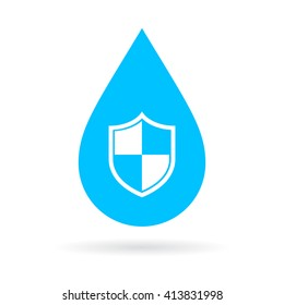 Waterproof vector icon illustration isolated on white background