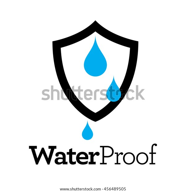 887f7a273a54 Waterproof Vector Icon, Water Resistant or Liquid Protection Logo Concept