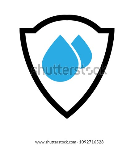 Waterproof Vector Icondrop Coat Arms Symbol Stock Vector Royalty