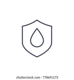 waterproof vector line icon
