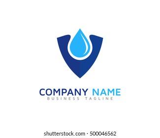 Waterproof Water Shield Logo Template