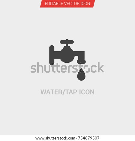 6acc8a7d84d6 Water Tap Icon Dark Grey New Trendy Stock Vector (Royalty Free ...