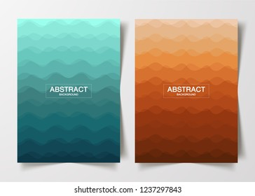 Wave Abstract Background design vector illustration. can use artistic covers design, realistic cube, backgrounds, Trendy pattern, graphic poster, brochure, cards and banner.