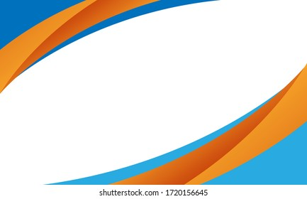 wave background with blue and orange color