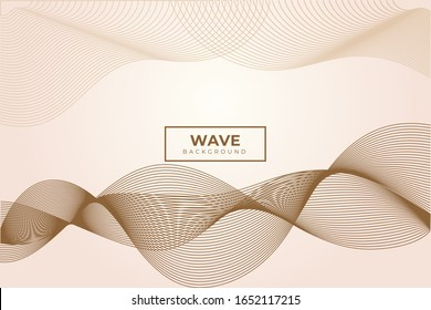 Wave background. Dynamic shapes composition. Eps10 vector