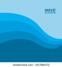 wave background vector illustration design
